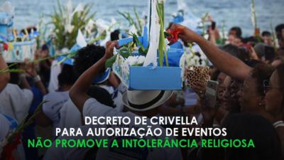 Crivella não proibiu eventos religiosos. Compartilhe e espalhe a verdade