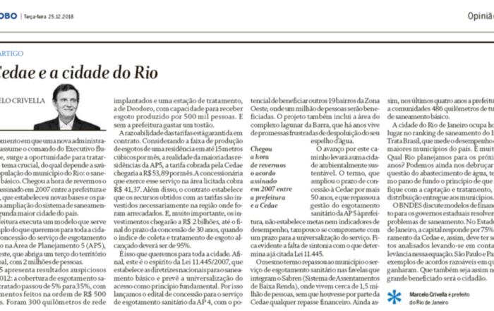 A Cedae e a Cidade Do Rio